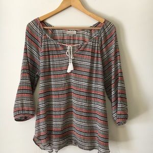 LOFT | Bohemian Striped Multicolored Tassel Tunic